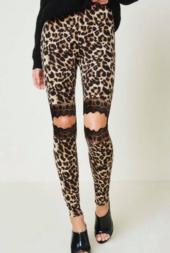Leopard Knee Legging