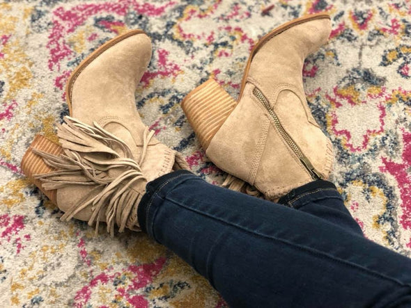 All About the Fringe Bootie