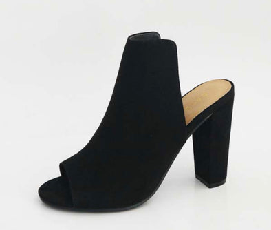 Peep Toe Heels - Black