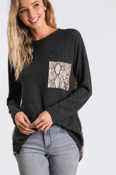 Snake Pocket Top