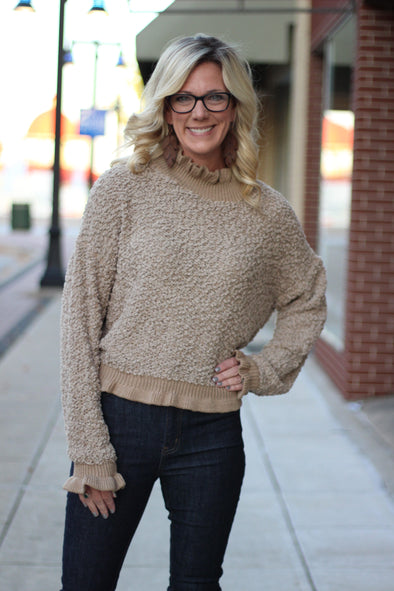 Ruffle Neck Sweater