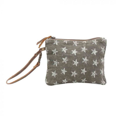 Star small pouch bag with handle #0784