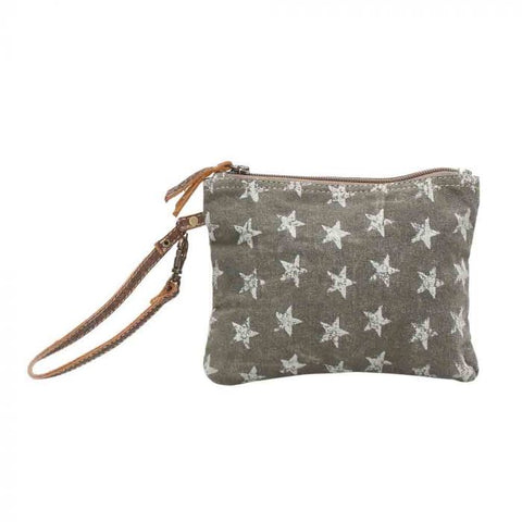Myra canvas star pouch bag