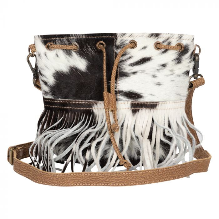 Myra Cowhide fringe small cross body bag #2169