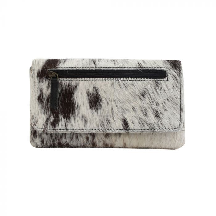 Hair on hide leather wallet