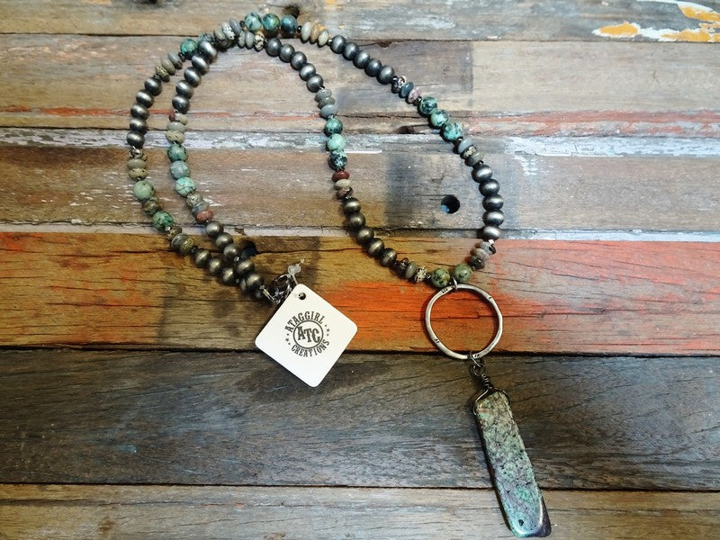 Long Agate necklace #n4
