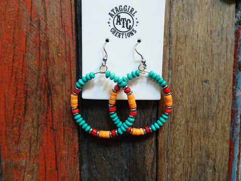 Western cowgirl hoop earrings