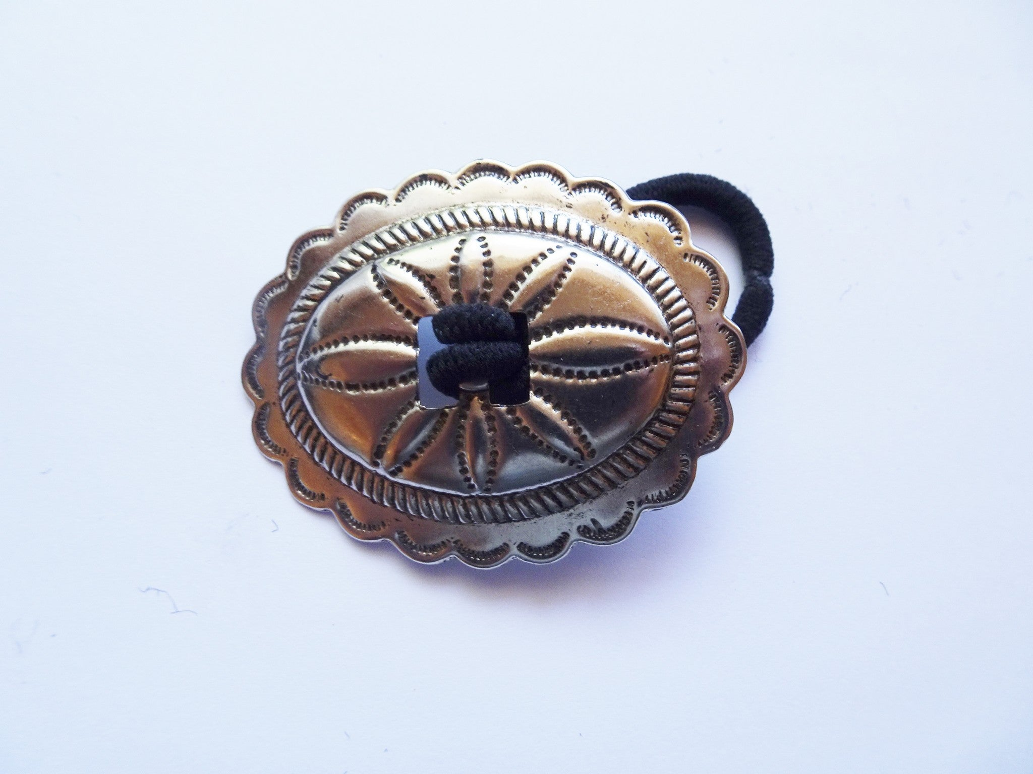 Cowgirl concho hair tie