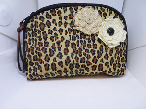 Leopard make-up cosmetic bag