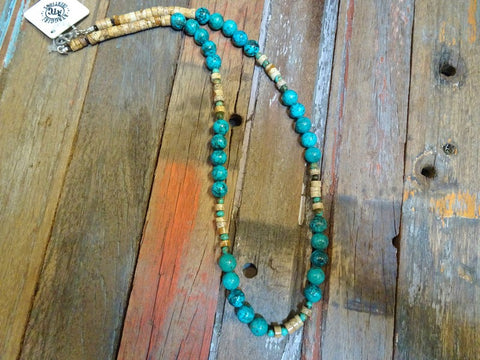 Turquoise and Jasper necklace #N30