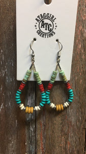 Cowgirl teardrop hoop earrings