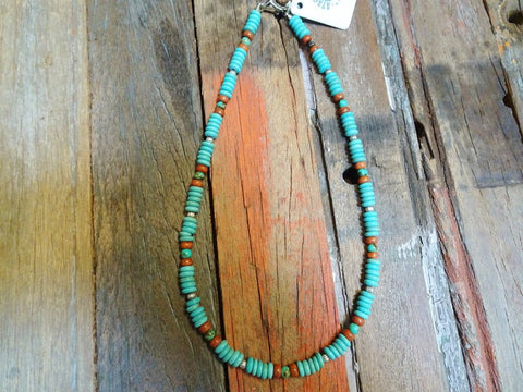 Turquoise cowgirl choker