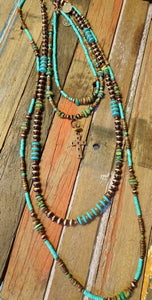 Cowgirl genuine Turquoise necklace set