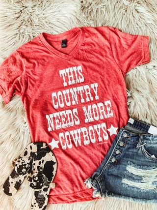 This country needs more cowboys t-shirt
