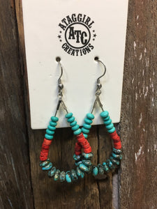 Cowgirl teardrop earrings