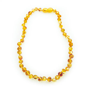 Baby teething necklace, Amber necklace, Baltic amber teething necklace