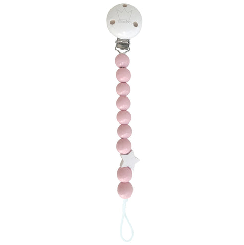 Pacifier clip Peony Pink - Wood
