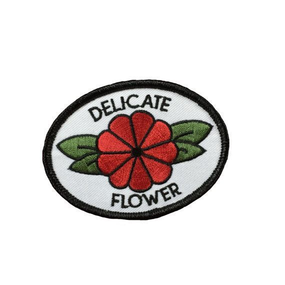 Delicate Flower Iron-On Patch