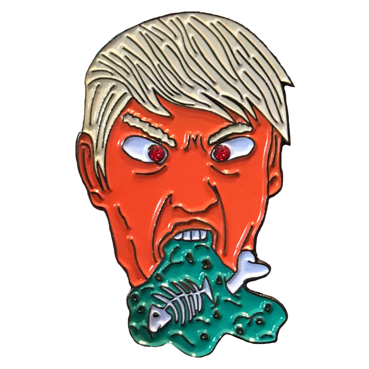 Garbage President Pin + LIMITED EDITION +