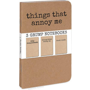 Grump Notebooks - Set of 3