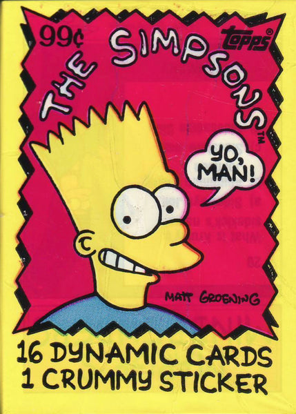 Simpsons Trading Card / Sticker Pack