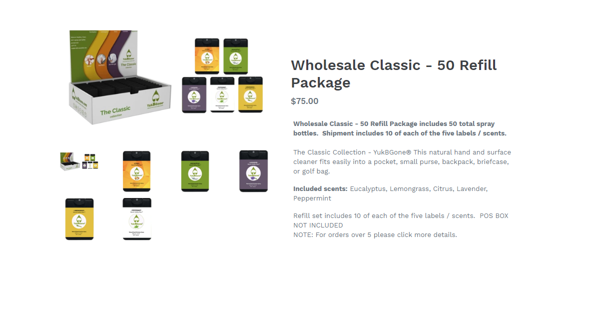 Wholesale Classic - Refill Set - Information