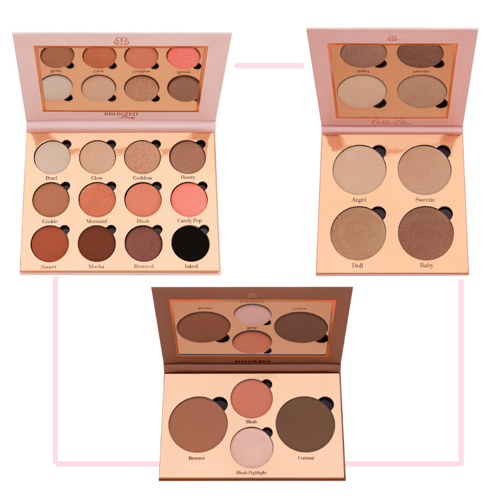 Eyeshadow, Highlighter & Contour Palette Bundle