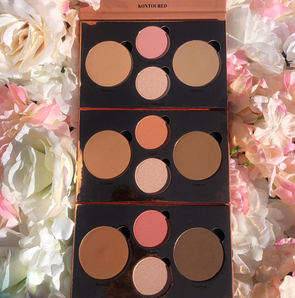 Highlighter, Eyeshadow & Contour Palette Bundle