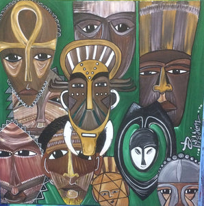 African Mask: African Roots in St. Lucia