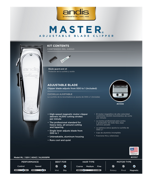 ANDIS Master Adjustable Blade Clipper for men top reviews