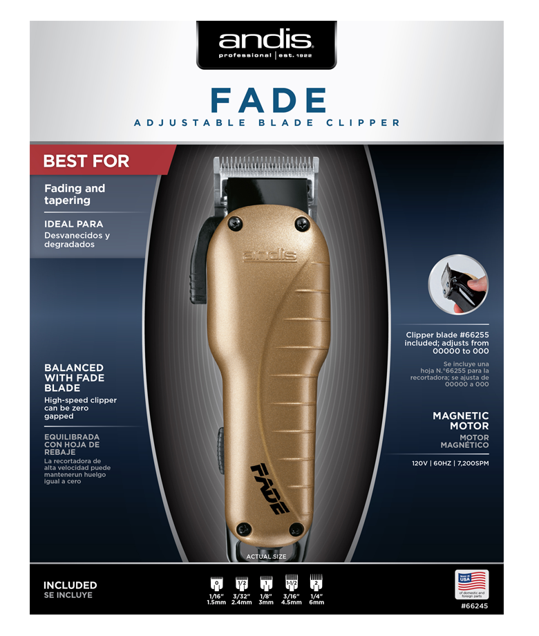 ANDIS Fade Professional Hair Clipper item No. 66245 for men