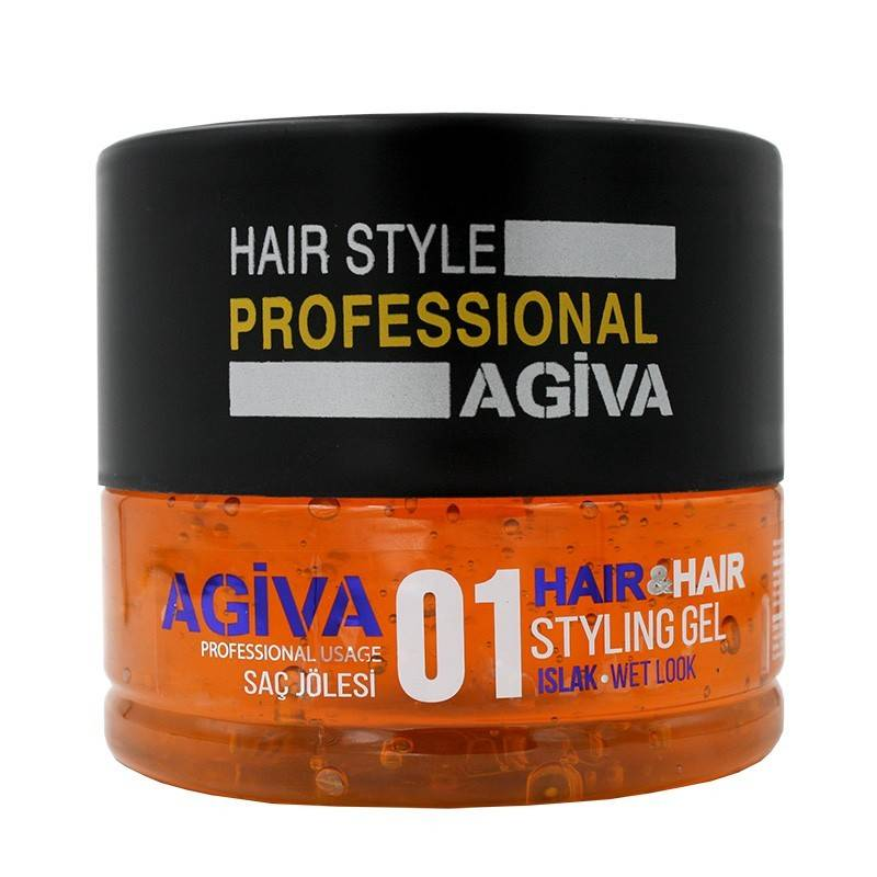 AGIVA Hair Styling Gel 01 ISLAK Wet look
