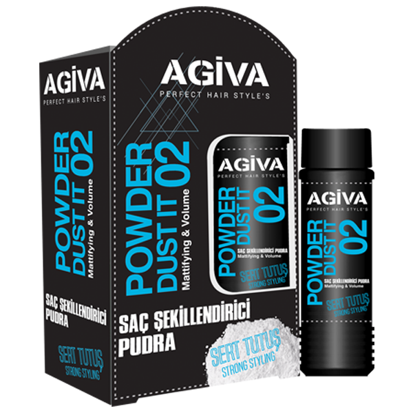 AGIVA <br> Black Styling Powder – Strong Hold
