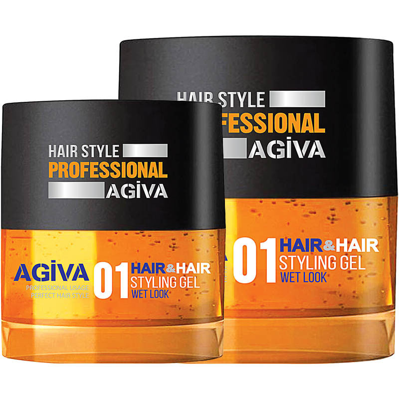 AGIVA Hair Styling Gel 01 ISLAK Wet look for men
