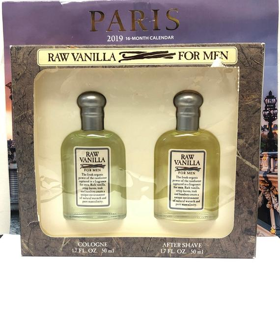 Raw Vanilla Cologne for Men. 2 Pc. Gift Set.