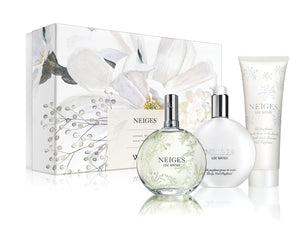 neiges eau de parfum three piece gift set