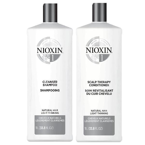 NIOXIN System 1 Cleanser & Scalp Therapy Duo Set shampoo & conditioner