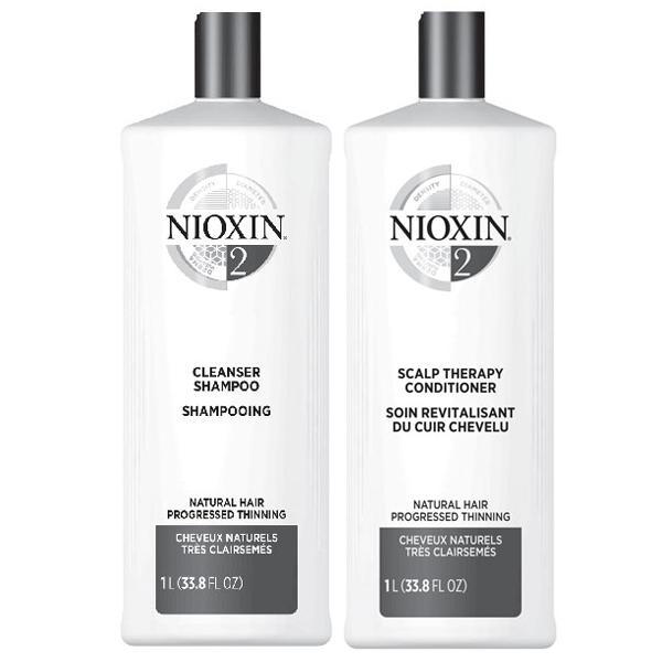 NIOXIN System 2 Cleanser & Scalp Therapy Duo Set shampoo & conditioner