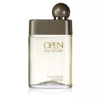Open eau de toilette spray