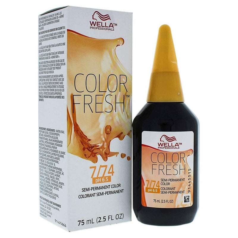 Color Fresh Warm 7/74 Medium Blonde/Brown Red Hair Color