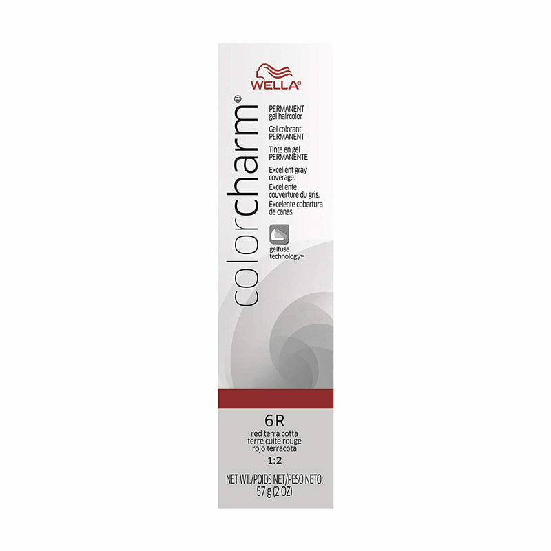 Color Charm Permanent Gel Hair Color 6R Red Terra Cotta
