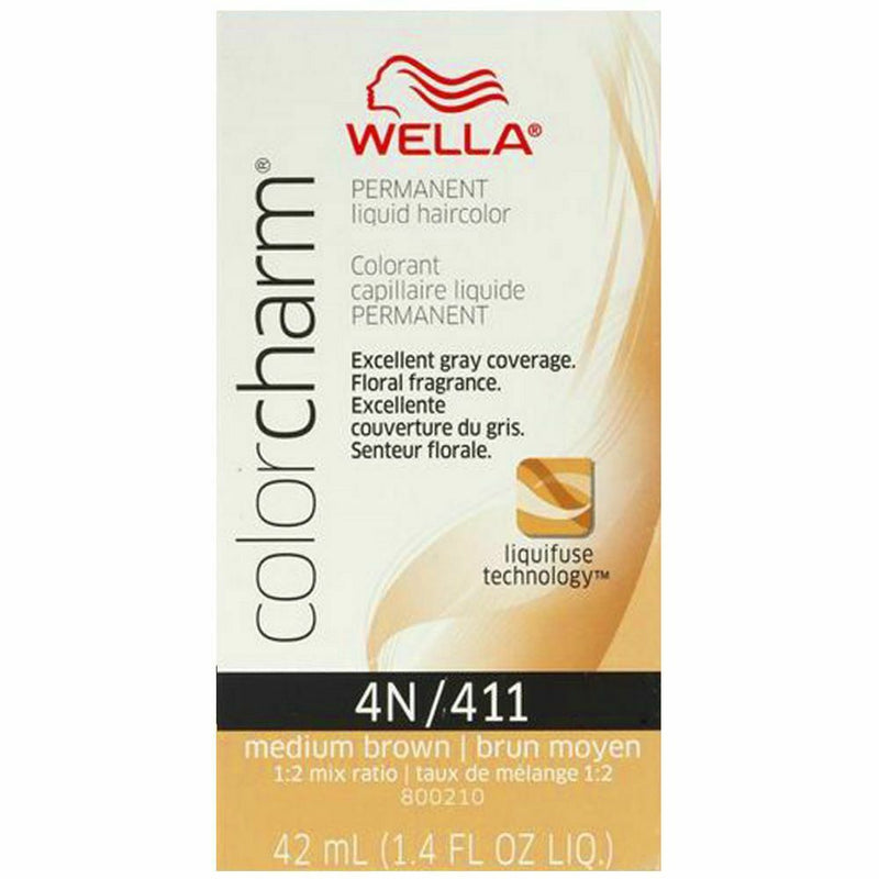 Color Charm Liquid Hair Color 4N/411 Medium Brown