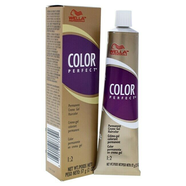 Color Perfect Medium Brown Red Permanent Cream Gel Hair Color