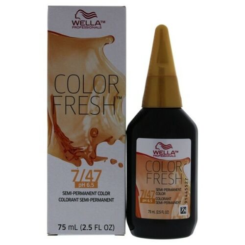 Color Fresh Warm 7/47 Medium Blonde/Red Brown Hair Color
