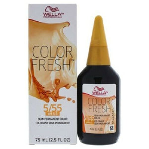 Color Fresh Cool 5/55 Light Brown/Intense Red Violet Hair Color