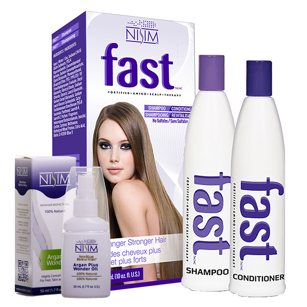 NISIM Fast Bundle Shampoo & Conditioner + Argan Plus Wonder Oil