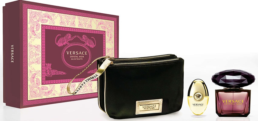 VERSACE Crystal Noir 3-Piece Holiday Gift Set