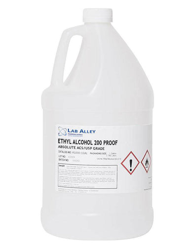 Ethanol 200 Proof, Food Grade Ethanol 200 Proof, Undenatured, ACS-USP Grade, Tax Paid, 1 Gallon