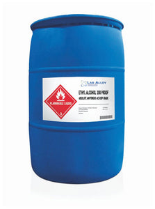 Ethanol 200 Proof, Undenatured, ACS-USP Grade, Tax Paid, 55 Gallon Drum, Poly