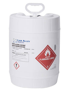 Ethanol 200 Proof, Undenatured, ACS-USP Grade, Food Grade Ethanol, Tax Paid, 5 Gallon, Poly Pail